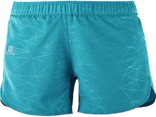 Salomon Trail Runner Hardloop Shorts Dames blauw